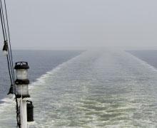 Urlaub auf Frachtschiff